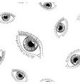 woman eye hand drawn sketch seamless background vector image vector image