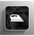 iron icon steam heat isolated clothing electric vector image