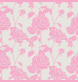 rose hand drawn pattern vector image