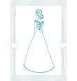 Beautiful bride - doodle vector image