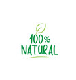 100 natural green word text with leaf icon logo