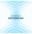 Abstract geometric background in 3D space vector image vector image