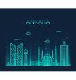 Ankara skyline linear style vector image vector image