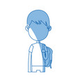 avatar boy student portrait image vector image vector image