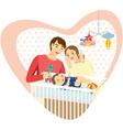 baby family heart vector image