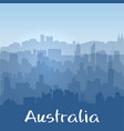 background with australian cities silhouettes vector image vector image