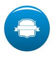 badge emblem icon blue vector image vector image