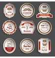 Barber Shop Stickers vector image vector image