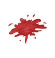 blood splatters on a white vector image vector image