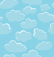 blue clouds texture vector image