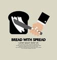Bread with Spread vector image vector image