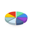 bright colourful pie diagram divided in eight vector image vector image