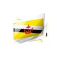 brunei flag on a white vector image