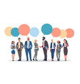 business people group chat bubble communication vector image