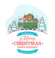 christmas greeting card with editable text vector image vector image