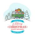 christmas greeting card with editable text vector image
