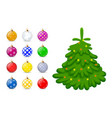 christmas toys for the christmas tree isolated on vector image