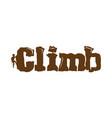 climb logo vector image vector image