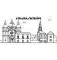 colombia cartagena line skyline vector image vector image