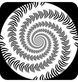 Design decorative spiral movement background vector image vector image