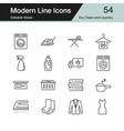 dry clean and laundry icons modern line design vector image vector image