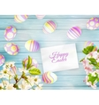 Easter background with cherry twigs EPS 10 vector image