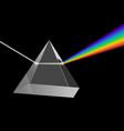 electromagnetic prism light refraction spectrum vector image vector image
