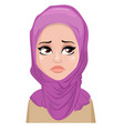 face expression of arabic woman - crying vector image vector image