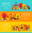 fall web horizontal banners vector image vector image