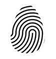 fingerprint logo symbol icon design vector image