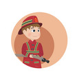 fireman icon cartoon character vector image vector image