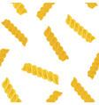 fusilli or fusillini pasta seamless pattern vector image vector image
