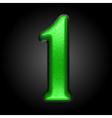 green plastic figure 1 vector image