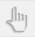 hand sign white icon with vector image vector image