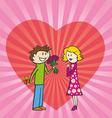 happy valentine card vector image vector image