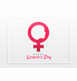 happy womens day celebration concept design vector image vector image