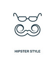 hipster style icon flat style icon design ui vector image