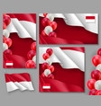 indonesian patriotic festive posters set vector image vector image
