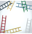 ladders background vector image