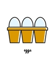 Line art eggs icon Infographic element vector image
