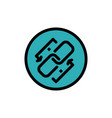Link chain url connection link flat color icon