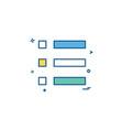 list grid icon design vector image vector image