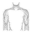 man torso silhouette for medical healthy medicine vector image