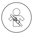 man with forklift seat belt stick figure car vector image vector image