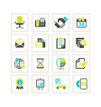 media and office icons set vector image
