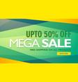 mega sale creative design banner template vector image vector image
