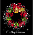 Merry christmas wreath vector | Price: 1 Credit (USD $1)