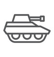 military tank line icon war and army vehicle