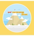 Mountains and airplane graphic vector image