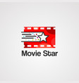 movie star logo icon element and template vector image vector image